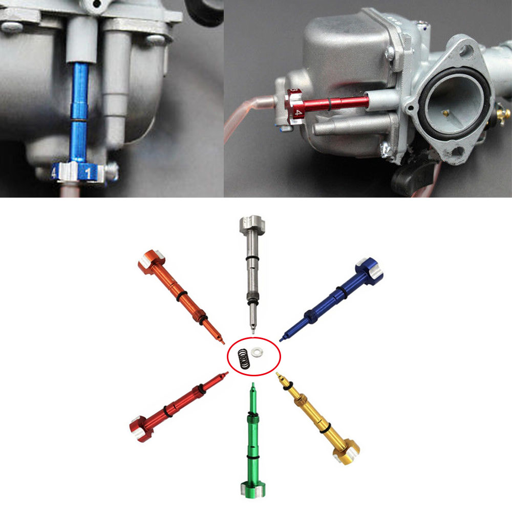 Red Easy Adjust Fuel Mixture Screw Air Carburetor Motorbike ATV For KTM Honda
