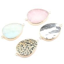 цены на Hot Sale Wholesale 4 Color Water Drop Shape Natural Stone Pendant Crystal Pendants for DIY Necklace or Jewelry Making Supplies  в интернет-магазинах