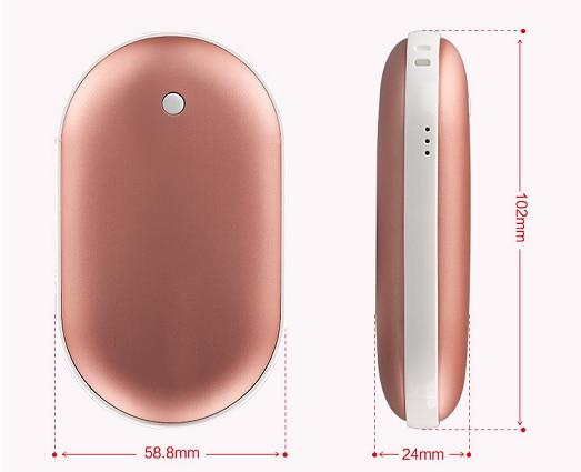 Waterless Usb Charging Hand Warmer With 4000ma Power Bank 5V Mini Portable Travel Handy Long-Life Pocket Hand Warmer