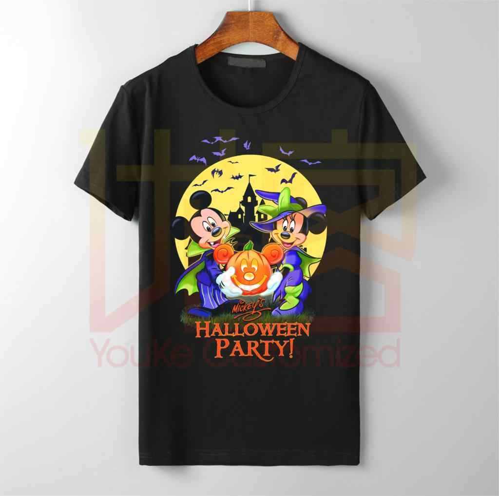 2019 вечерние футболки с Микки Маусом для Хэллоуина, хлопковые футболки с круглым вырезом и рисунком Лолы Банни высокого качества, Лидер продаж