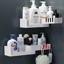 Угловые полки для ванной комнаты, держатель для шампуня, кухонный стеллаж для хранения, органайзер для беспорядка и душа, настенный держате...