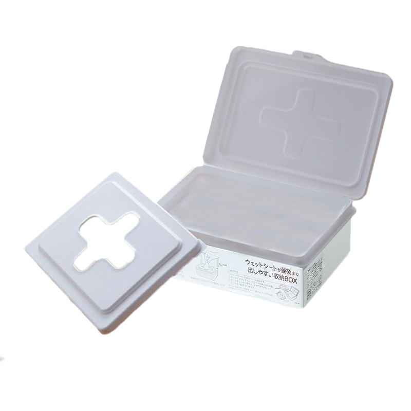 Household Dustproof Disposable Face Masks Wet Tissues Storage Box Organizer Face Mask Storage Tissue Box S