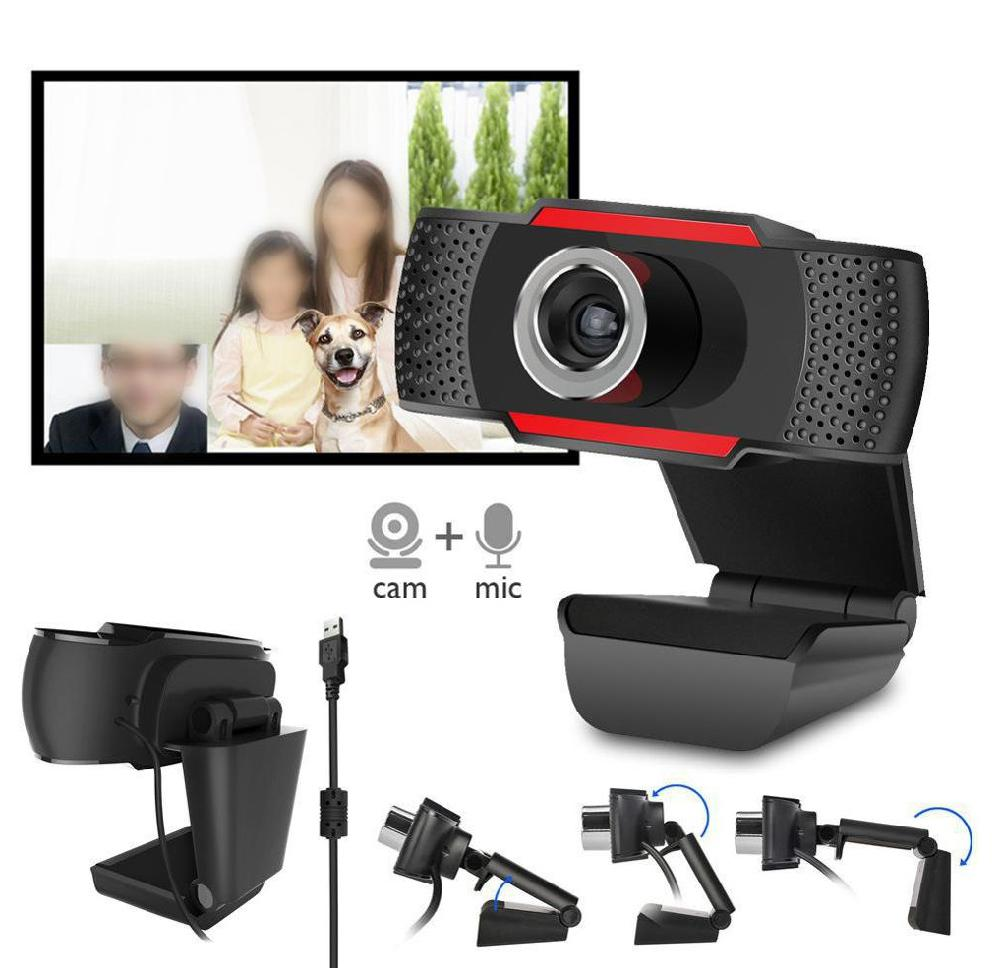 USB Web Camera HD Computer Camera Webcams Built-In Sound-absorbing Microphone