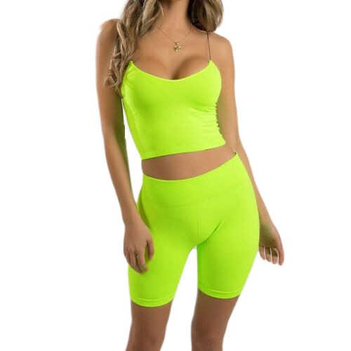 2019 Nieuwste collectie Hot Sexy Charmant Groothandel 2 Stuks Zomer Vrouwen Trainingspak Tank top Korte Broek Casual Jogging Sportwear Pak