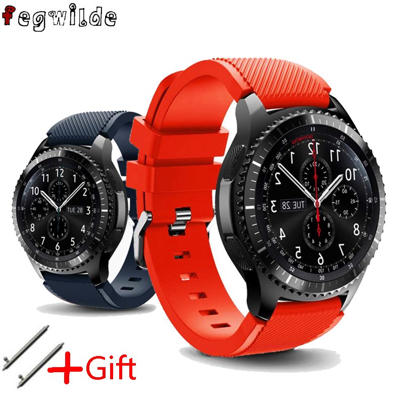 Strap For Samsung Gear S3 Frontier Galaxy Watch 46mm Active Men Watch Straps 22mm Silicone Bracelet Watchband Huawei Watch Gt 2
