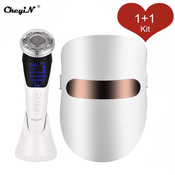 Face Massager Facial LED Mask Beauty Skin Rejuvenation Photon Masque LED Facial Mask Therapy Anti Wrinkle Acne Tighten Skin Care 7 colors led light therapy mask photon led therapy facial mask beauty spa skin rejuvenation wrinkle acne remover face care tool