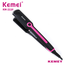 KEMEI Mini Portable Curly Hair Professional Tourmaline Ceramic Hair St