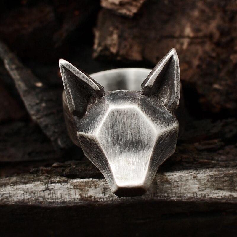 Originale disegno a mano 925 sterling argento degli uomini e delle donne di personalità foresta salto anello volpe pendenti - 2