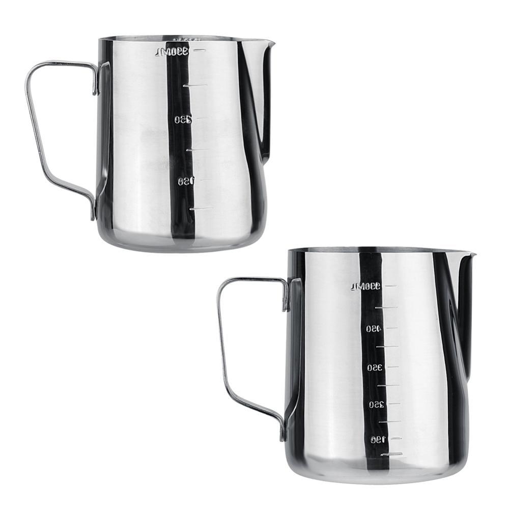 DIY Coffee Art Pot Stainless Steel Milk Frothing Jug Espresso Coffee Pitcher Barista Craft Coffee Latte Frothing Jug Pitcher