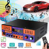 KROAK 3000W Audio Power Amplifier bluetooth Car Digital Stereo Amplifier HIFI USB FM with Remote Control 2 Channels Amplifiers