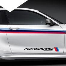 Adesivo refletor para bmw 2 peças, 5.8x50cm, automóvel, desempenho limitado, edição limitada, porta lateral, para bmw série 1 2 3 4 x m 220i