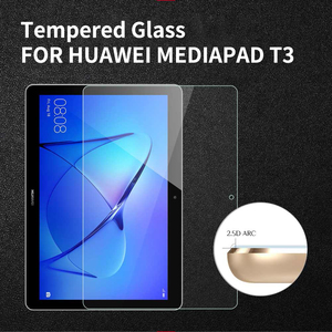 HD Tempered Glass For Huawei Mediapad T3 10 Protective Glass For Huawei Media Pad T3 10 7 9.6 T5 T1 T2 Screen Protector(China)