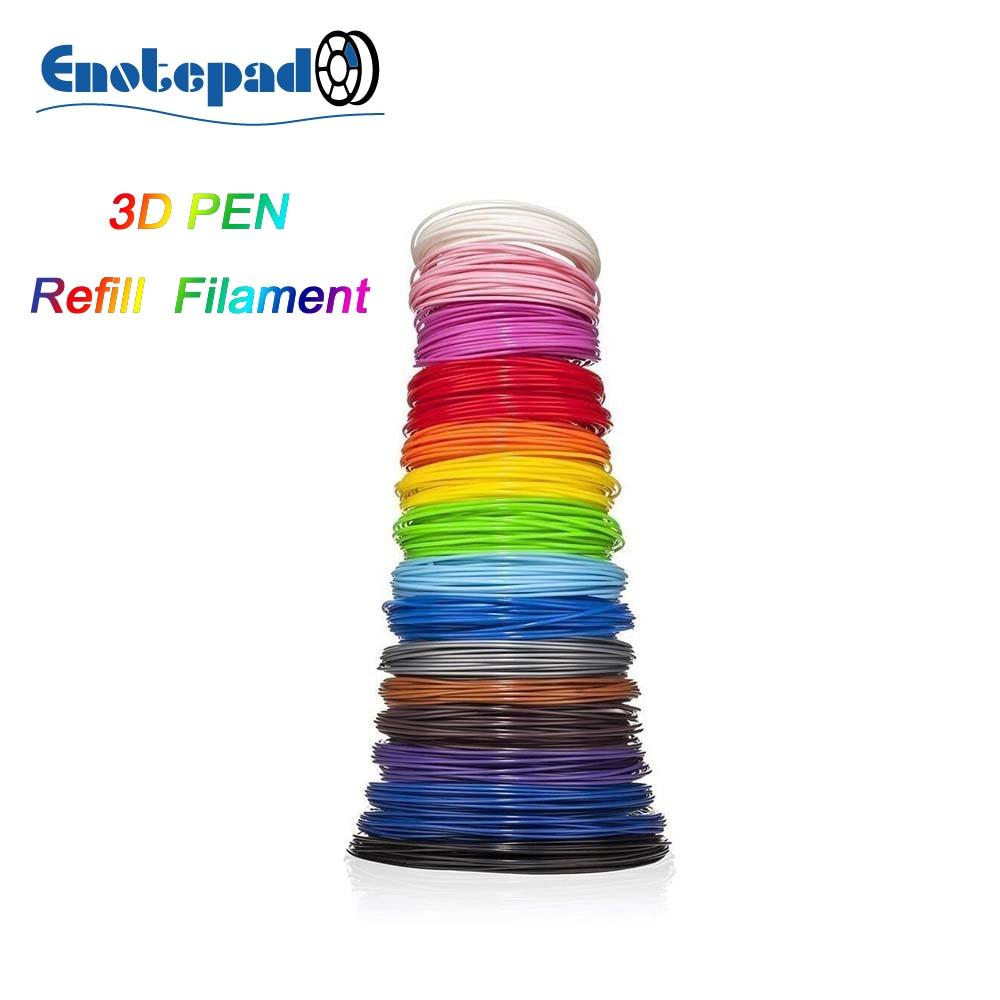 ENOTEPAD abs нить 5 метров в рулоне в упаковке 3DPen нить для 3D ручки Гибкая для детей impresora 3d карандаш