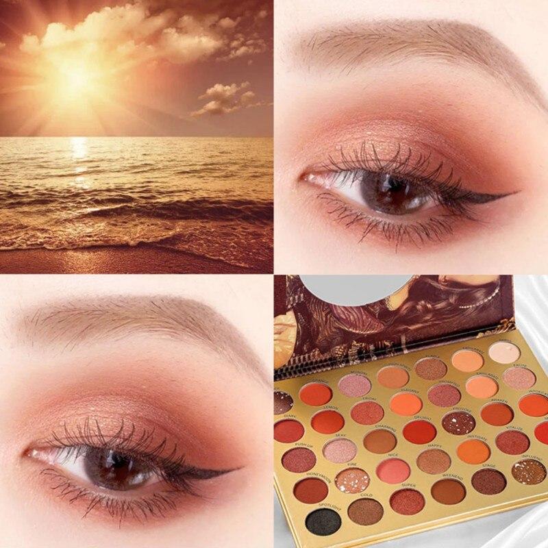 35 placa de sombra de olho de cor a prova dwaterproof agua cor renderizacao brilho da