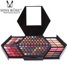 130 Color Long Lasting Waterproof Shimmer Makeup Kit Glitter Matte Eyeshadow Eyebrow Blush Palette Travel Cosmetics Set
