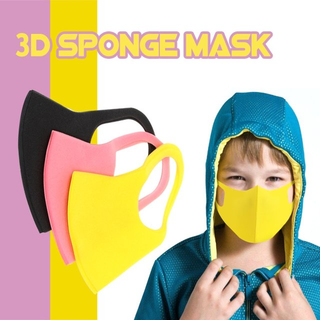 Elastic Anti Dust Mask Washable Mouth Mask Children Respirator Breathable Anti-bacterial Proof Flu Child Face Masks color random