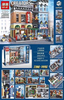 IN STOCK Detective's Office Street view Building Blocks Bricks 15011 Lepining CREATOR Street View 10246  Gift for Children 2