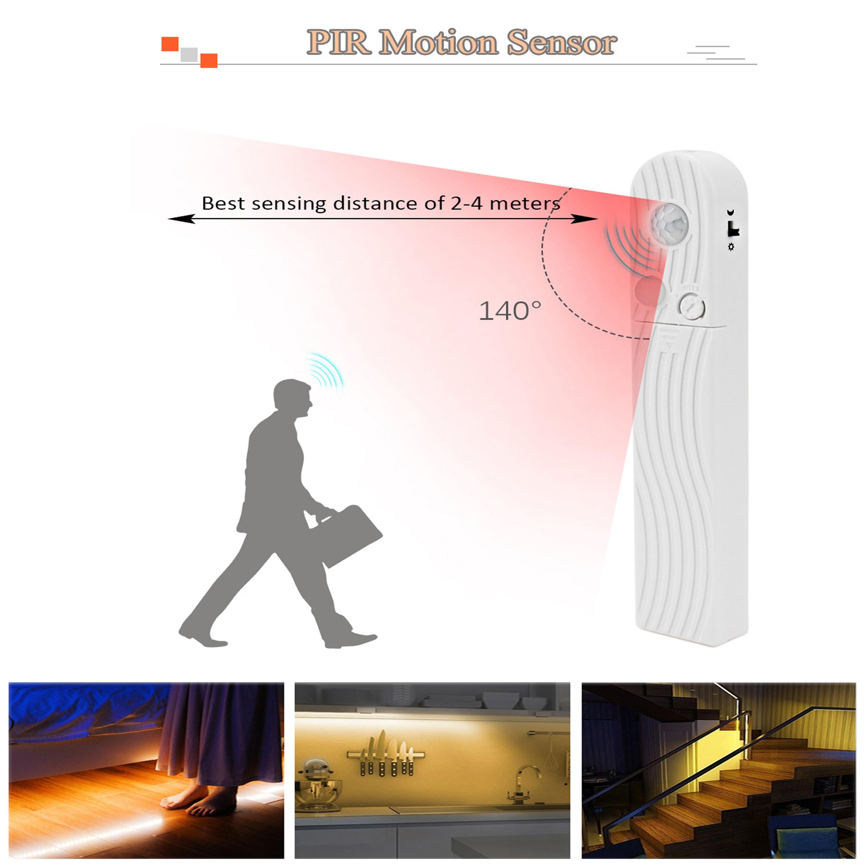 Led Cabinet Light Motion Sensor Battery Powered Light Strip 1m 2m 3m 4m 5m 50cm  For Cocina Bedroom Closet Lighting Luces Led
