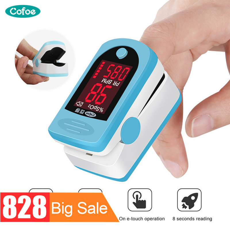 Tipo de grampo do medidor de oxigênio do oxímetro do sangue do pulso do dedo de cofoe