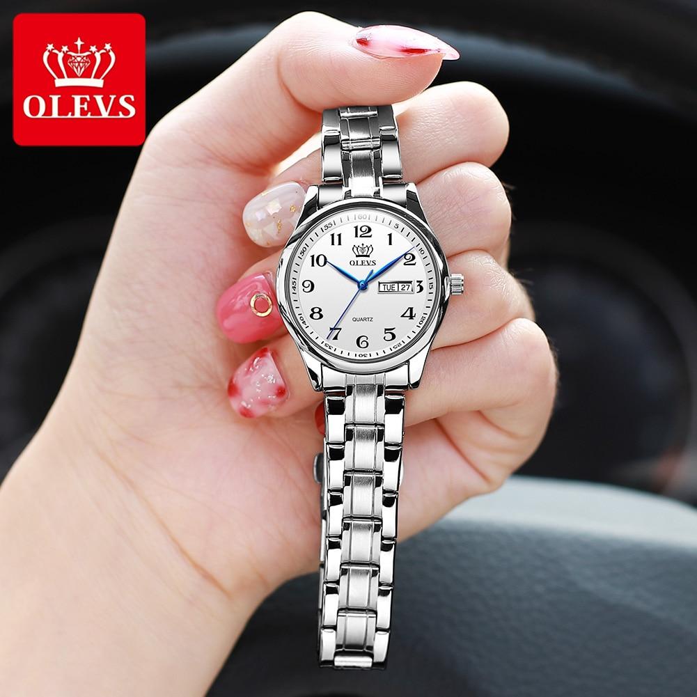 Women Watches Montre Wrist Stainless-Steel Waterproof Luxury OLEVS Femme Fashion Quartz