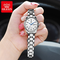 OLEVS Quarzuhr Frauen Mode Damen Uhren Handgelenk Wasserdichte Edelstahl Frauen Uhren Luxus Montre Femme 5567