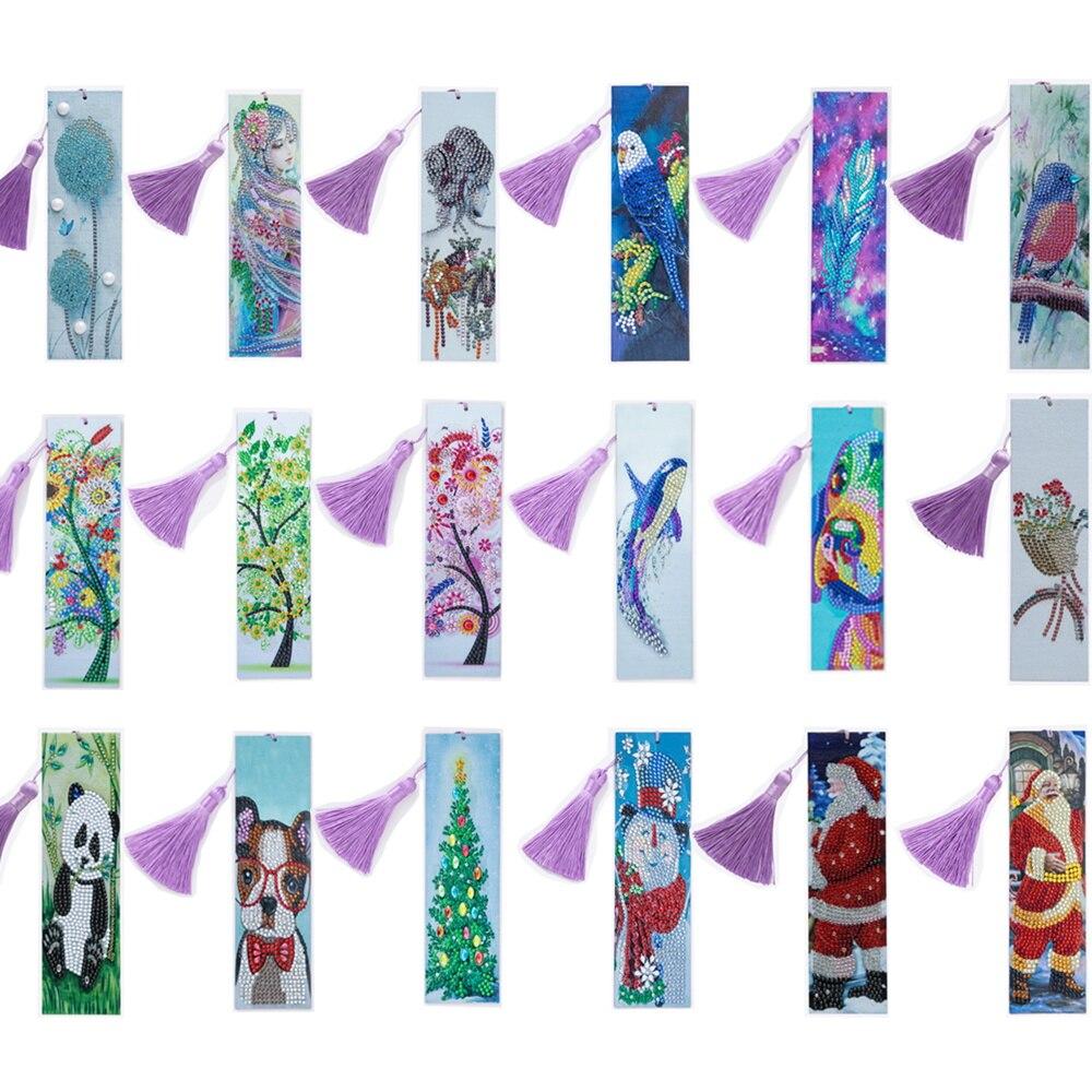 Алмазная живопись, Закладка, алмазная живопись, закладки для творчества, Набор для вышивки крестиком, специальная форма, дрель для взрослых,...
