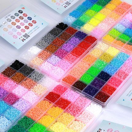 39000pcs 2.6mm Hama Beads Puzzle Toys 72 Colors DIY Perler Beads For Children Adults 3D Puzzles Fuse Beads Hama Dropshipping