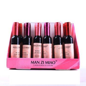 Red Wine Lip Liquid 1Pcs Boxed Long-Lasting Moisturizing Lip Liquid Lip Gloss Lipstick Beauty Products hannaier 269 h01 pen style moisturizing lipstick lip gloss red