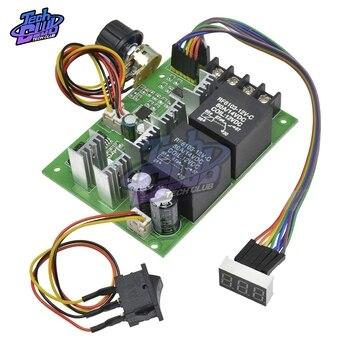 PWM Speed Controller DC Motor Digital Display DC10-55V 0~100% Adjustable Drive Module Input MAX 60A 12V 24V 36V 48V hot sale dc 12 48v 400w aluminum alloy cnc spindle motor er11 mach3 pwm speed controller mount 3 175mm