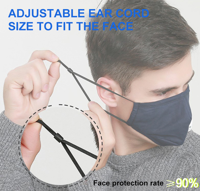 Black mouth Mask Cotton PM2.5 anti dust mask Activated carbon filter mascarilla Mouth-muffle bacteria proof Flu Face masks Care 4