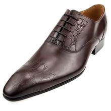 2020 shoes men Genuine  wedding shoes chaussure homme cuir oxford shoes for Lace up men shoe leather sapato office shoes men men dress shoes genuine leather men oxford shoes luxury brand flats wedding oxford lace up loafers bullock shoes chaussure homme