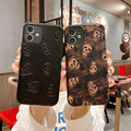 Fall für iphone 12 11 pro max SE2020 X XS XR XSMAX 6S 7G 8 PLUS Luxus 3D textil Leder haut weich hart telefon abdeckung fall