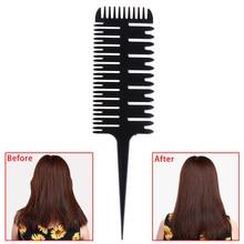 Profissional salão de beleza estilo pente de corte cauda peixe osso forma do cabelo estilo cabeleireiro pente feminino updo grande dente pente tingimento ferramenta