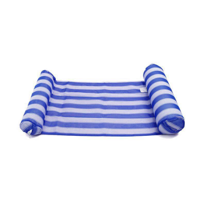 Taşınabilir yüzme şişme şamandıra yaz hava su hamak havuz salonu su yüzen yatak plaj sandalyesi şişme yatak kanepe sandalye