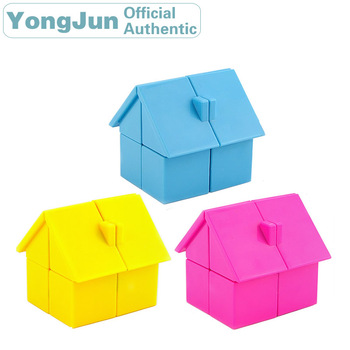YongJun House 2x2x2 Magic Cube YJ 2x2 Professional Neo Speed Puzzle Antistress Educational Toys For Children yongjun mirror 2x2x2 magic cube yj 2x2 professional speed puzzle antistress educational toys for children