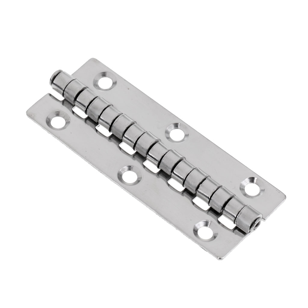 Silver Stainless Steel Marine Boat Yacht Door Piano Hinge Deck Cabin Hardware Strong Corrosion Resistance Durable in Saltwater