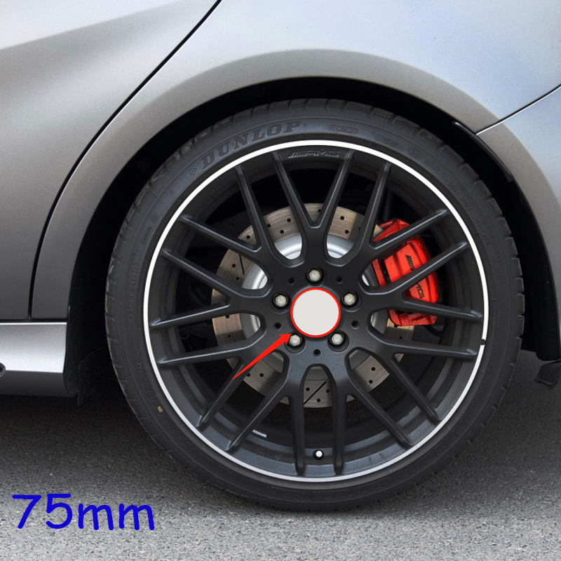 4pcs 75MM 2.9in Wheel Hub Center Cap Cover For Mercedes Benz W202 W203 W124 CLK C260 W210 AMG W164 W212 W211 C63 Car Accessories