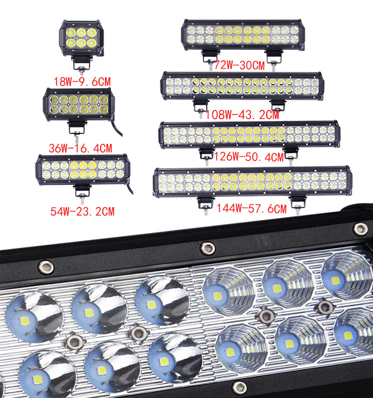 free shipping skure LED Light Bar car Straight Dual Row driving light bar IP67 Waterproof For jeep Truck 4x4 SUV ATV in Light Bar Work Light from Automobiles Motorcycles
