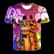 Summer Anime Game FT-Five Night At Freddy T-shirt Casual Street Top Boy Girl Fashion 3D Printing T-shirt Fashion Short Sleeve