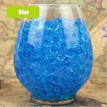 100pcs/lot Big Blue Crystal Soil Mud Hydrogel Gel Kids Children Toy Water Beads Growing Up Orbiz Water Balls Wedding Home Decor growing up muslim