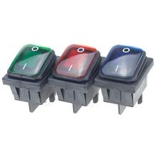 цена на 1pcs on off 30A/250V Heavy Duty 4 pin DPST IP67 Sealed Waterproof Auto Boat Marine Toggle Rocker Switch with LED 12V 220V 22*27