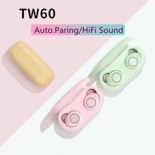 סופר מיני אוזניות Bluetooth אוזניות V5.0 ספורט אלחוטי Bluetooth אוזניות Handfree TWS אמיתי אלחוטי אוזניות עבור טלפון