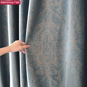 Image 1 - Роскошная Затемняющая тканевая панель, занавеска для гостиной, Солнцезащитная Затемняющая оконная занавеска для спальни, на заказ
