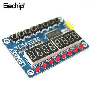 Image 1 - TM1638 LED Display Module 16 Keys 7 Segment 8Bit Digital Display Button Driver Board  LED Digital Tube For Arduino DIY