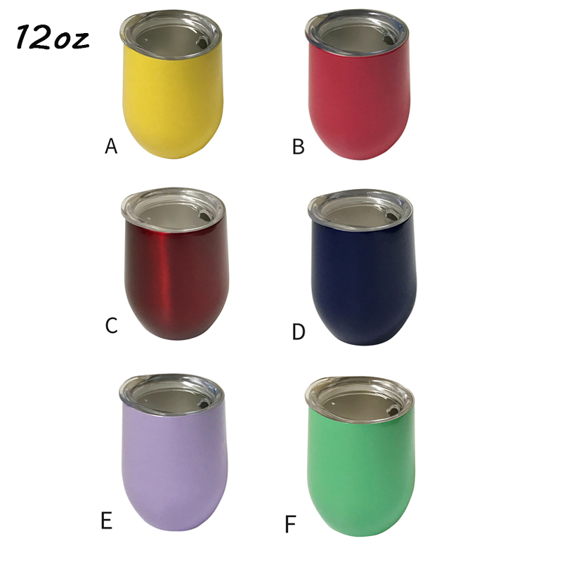 Wholesale 50pcs lot 12oz Wine Tumbler Egg Shaped Beer Mug Vacuum Glass Drinkware Graduation Party Gift