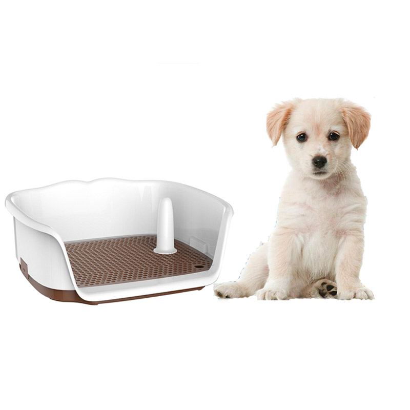 Portable Pet Dogs Lattice Toilet Potty Pet Dogs Cats Litter Boxes Puppy Litter Tray Training Toilet Easy To Clean Pet Supplies D