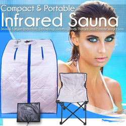 Portable Far Infrared Sauna Spa Slimming  Negative Ion Detox Therapy Personal Fir Sauna Folding Chair Cabin Room Sauna Heater