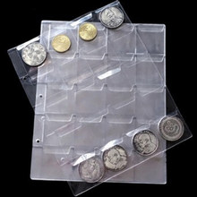 1 Sheets 20 Pockets Transparent Money Coin Collection Page Albums For Collectors Home Decor Accessories Coins Holders Album(China)