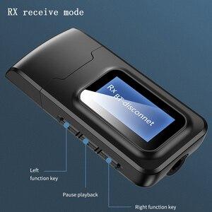 Image 2 - VAORLO עם LCD תצוגת Bluetooth 5.0 אודיו מקלט משדר 3.5MM AUX שקע סטריאו USB מתאם אלחוטי Dongle עבור מחשב טלוויזיה רכב