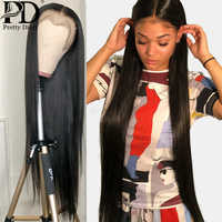 28 30 34 pulgadas 13x6 pelucas de cabello humano Frontal de encaje predesplumado para mujeres negras Peluca de cuero cabelludo falso peluca brasileña peluca Frontal recta pelo Remy